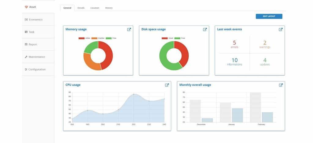 Auriga WWS Asset-Management-Modul