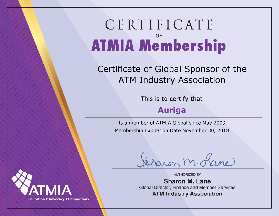 Certificato Partnership Atmia